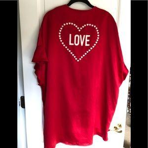 Victoria Secret Red Love Heart Kimono